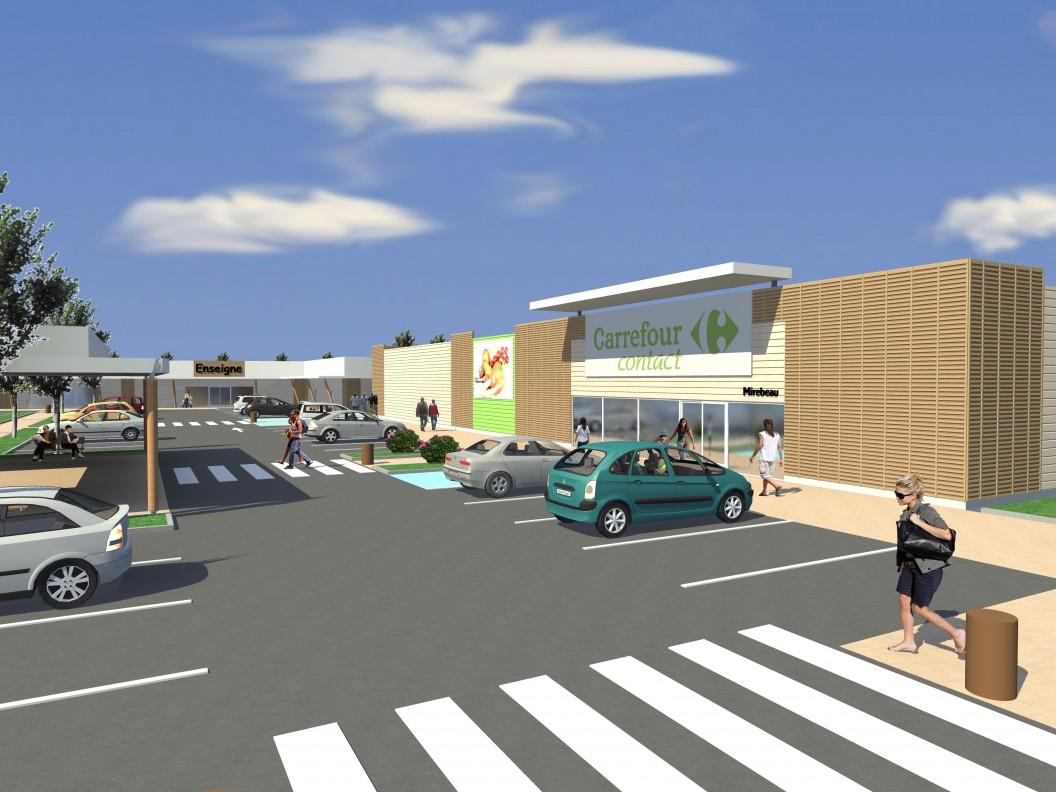 Projet Centre Commercial - MIREBEAU-SUR-BÈZE (21)